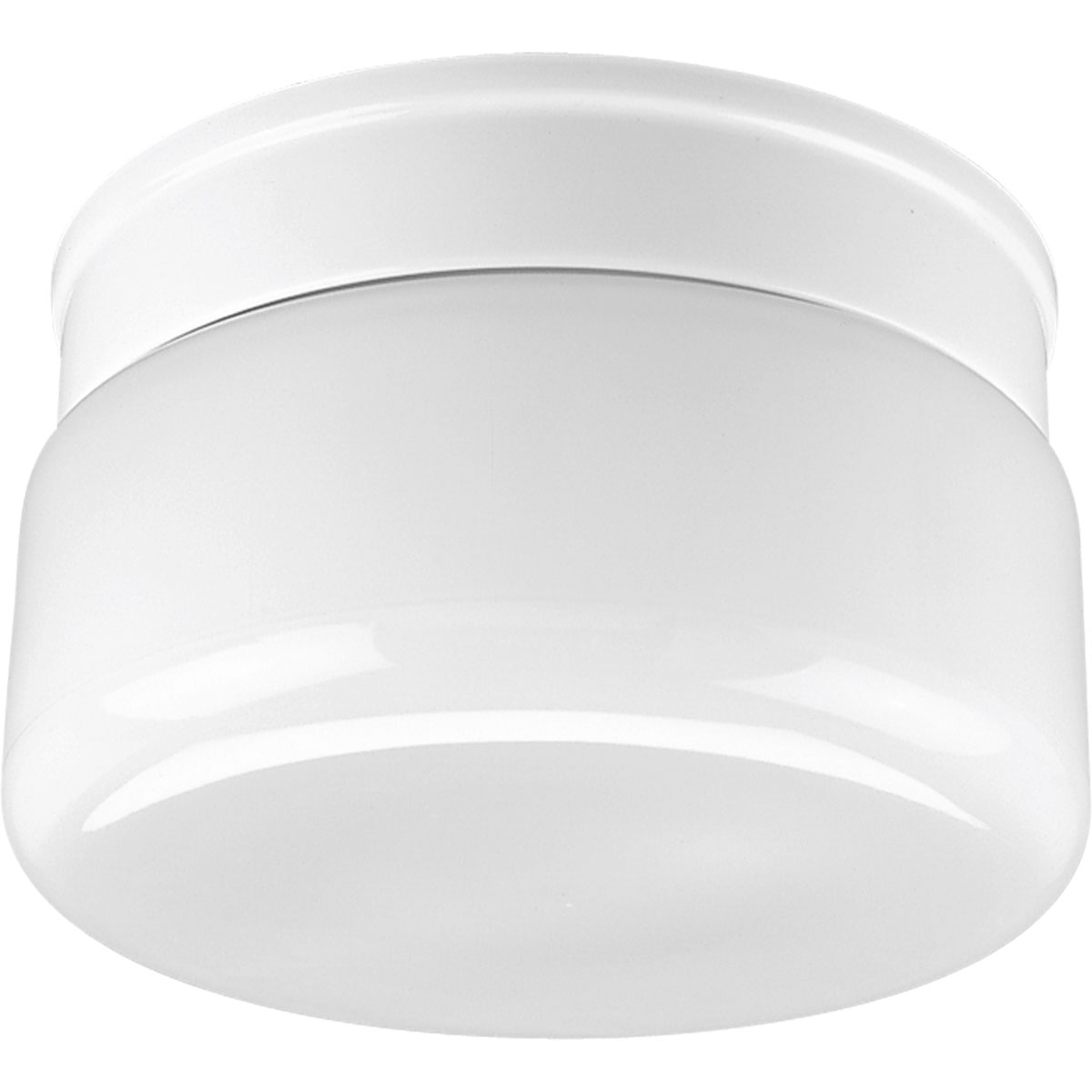 Close To Ceiling Modern Lights : Progress lighting p white glass inch flush