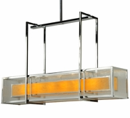 2nd Avenue Lighting (218355.2) Quadrato Lange Oblong Pendant shown in Chrome Finish