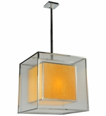 2nd Avenue Lighting (218355.4) Quadrato Lange Pendant shown in Chrome Finish