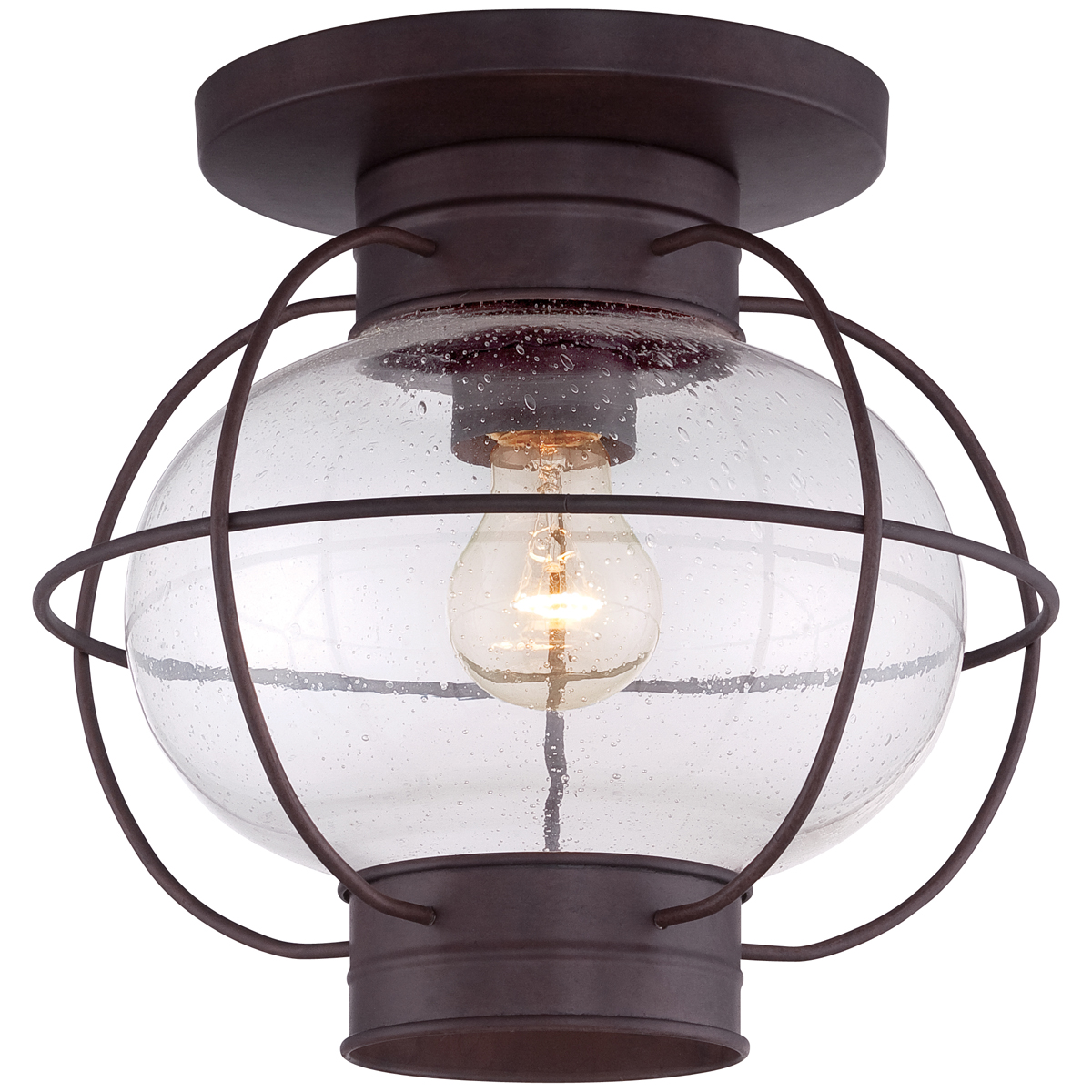 Quoizel Lighting Cooper Inch Outdoor Flush Mount In