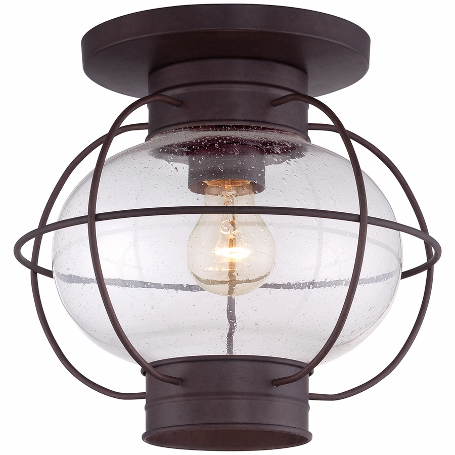 Quoizel Lighting COR1611CU Cooper 11 inch Outdoor Flush Mount in