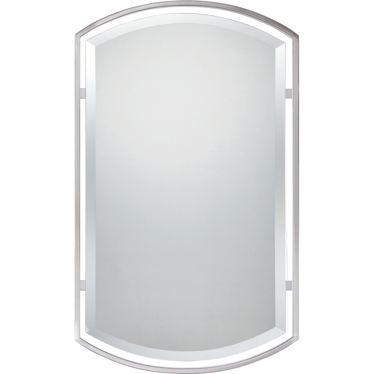 Quoizel Bathroom Mirrors quoizel lighting (qr1419bn) mirror in brushed nickel with semi