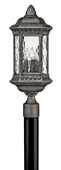 Hinkley Lighting (1721BG) Regal Large Outdoor Post Light in Black Granite with Clear Seedy Water Glass