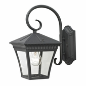 Ridgewood Coach Lantern Small shown in Matte Texetured Black by Cornerstone Lighting