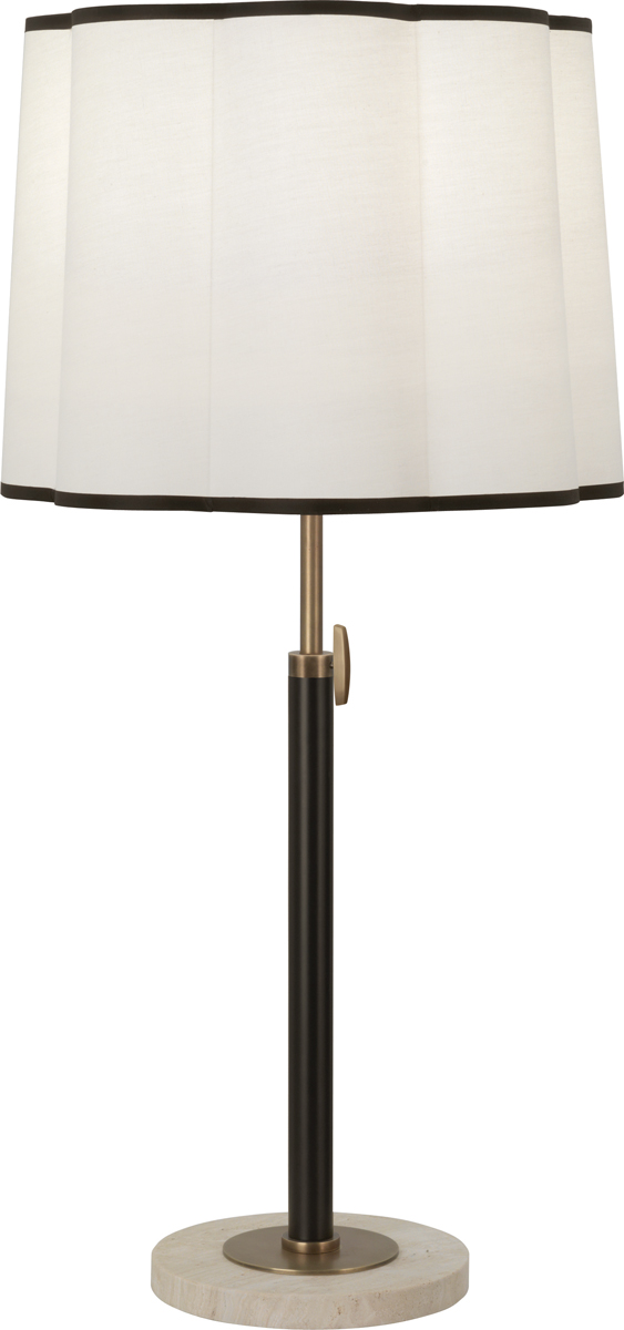 Wall Hugging Floor Lamp : Robert Abbey (2130) Axis Adjustable Table Lamp shown in Aged Natural Brass with Cocoa Brown ...