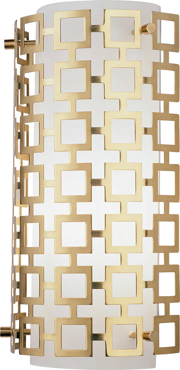 Half Circle Wall Lights : Robert Abbey (662) Jonathan Adler Parker Half Round Wall Sconce shown in Antique Brass