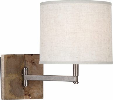 Robert Abbey 829 Oliver Swing Arm Wall Sconce Shown In Unfinished Mango Woo
