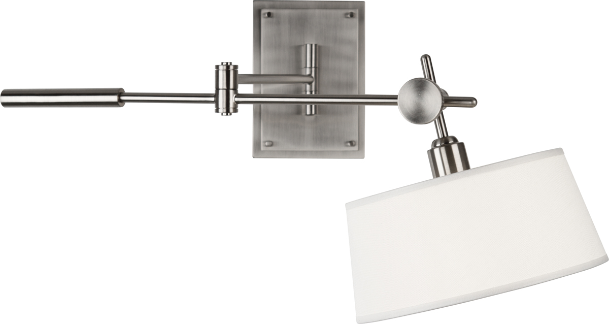 Robert Abbey (B2098) Rico Espinet Miles Wall Mounted Boom Lamp shown in Brushed Nickel