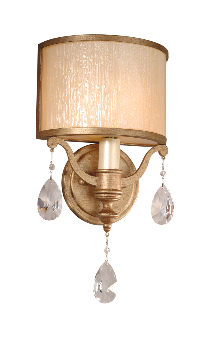 Corbett Lighting (71-11) Roma 1 Light Wall Sconce shown in Antique Roman Silver