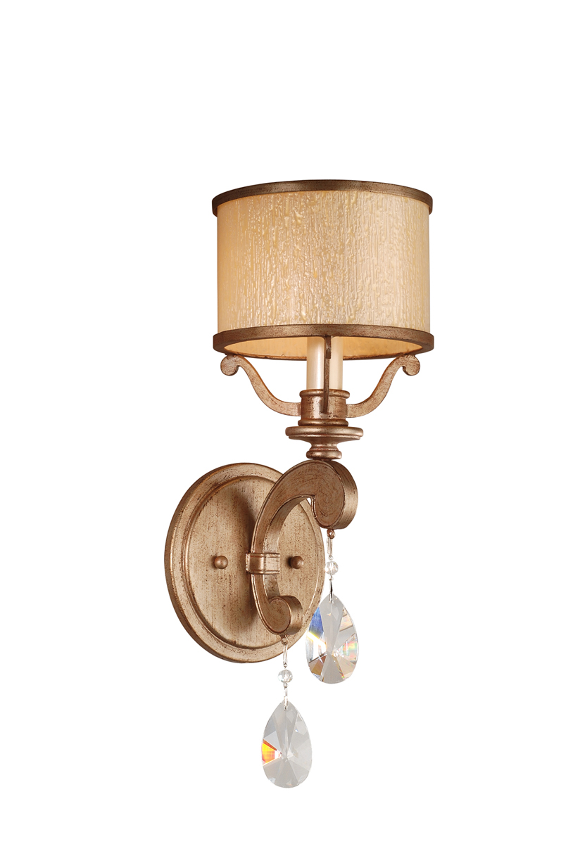 Wall Hugger Lamps : Corbett Lighting (71-61) Roma 1 Light Wall Sconce shown in Antique Roman Silver