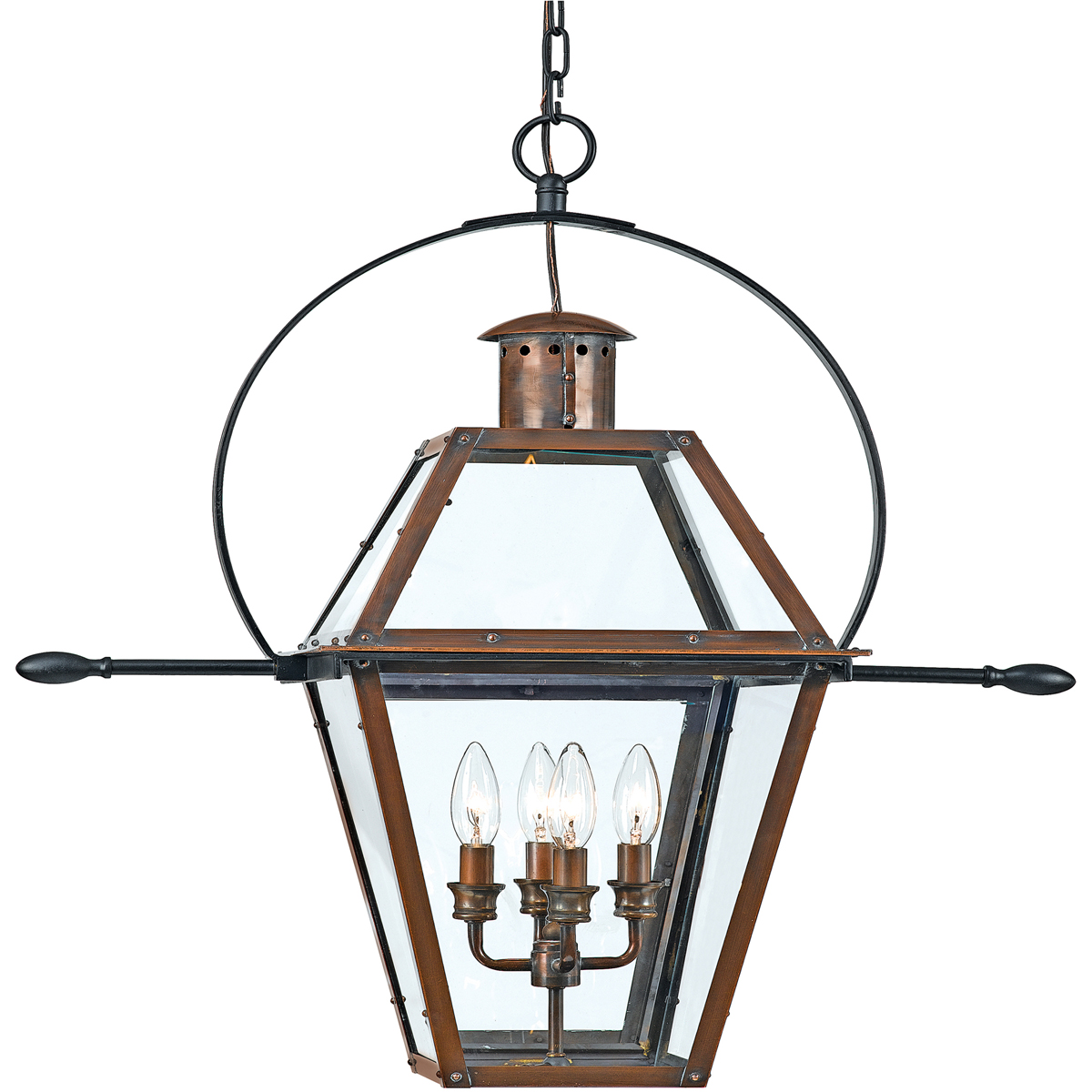 Quoizel Lighting (RO1914AC) Rue De Royal Outdoor Hanging Lantern in Patinaed Solid Copper with Antique Highlights