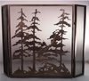 Meyda Tiffany (12393) 40 Inch Width X 30 Inch Height Tall Pines Folding Fireplace Screen