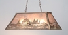 Meyda Tiffany (98682) 33 Inch Length Leaping Trout Oblong Pendant