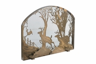 Meyda Tiffany (107759) 39.5 Inch Width X 30 Inch Height Deer On The Loose Arched Fireplace Screen