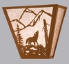 Meyda Tiffany (23948) 13 Inch Width Northwoods Wolf On The Loose Wall Sconce