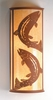 Meyda Tiffany (77854) 13 Inch Width Leaping Trout Wall Sconce
