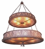 Meyda Tiffany (20593) 48 Inch Width Mountain Pine 2 Tier Inverted Pendant