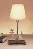 Meyda Tiffany (50612) 13 Inch Height Lone Deer Parchment Shade Accent Lamp