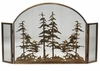 Meyda Tiffany (119082) 50 Inch Width X 30 Inch Height Tall Pines Arched Fireplace Screen