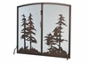 Meyda Tiffany (106333) 47 Inch Width X 43 Inch Height Tall Pines Operable Door Arched Fireplace Screen