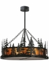 Meyda Tiffany (116636) 36 Inch Width Tall Pines Inverted Pendant