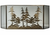 Meyda Tiffany (113067) 96 Inch Width X 40 Inch Height Tall Pines Folding Fireplace Screen