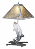 Meyda Tiffany (24231) 21 Inch Height Leaping Trout Table Lamp