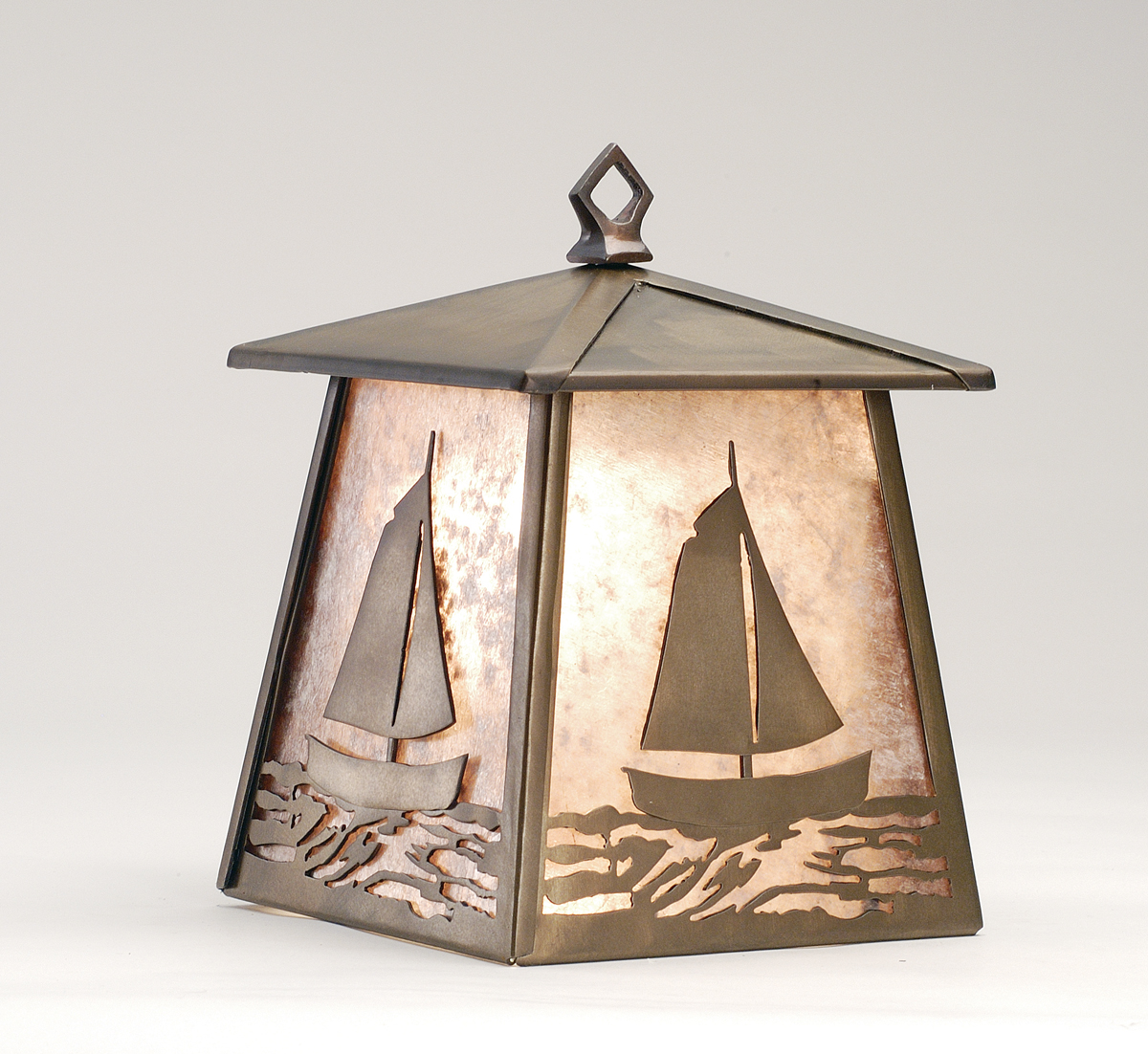 Rustic Cabin Wall Sconces : Meyda Tiffany (82646) 7.5 Inch Width Sailboat Hanging Wall Sconce