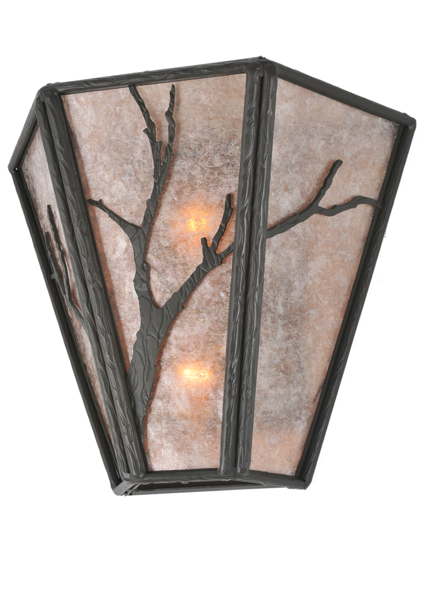 Rustic Cabin Wall Sconces : Meyda Tiffany (99385) 14 Inch Width Branches Wall Sconce