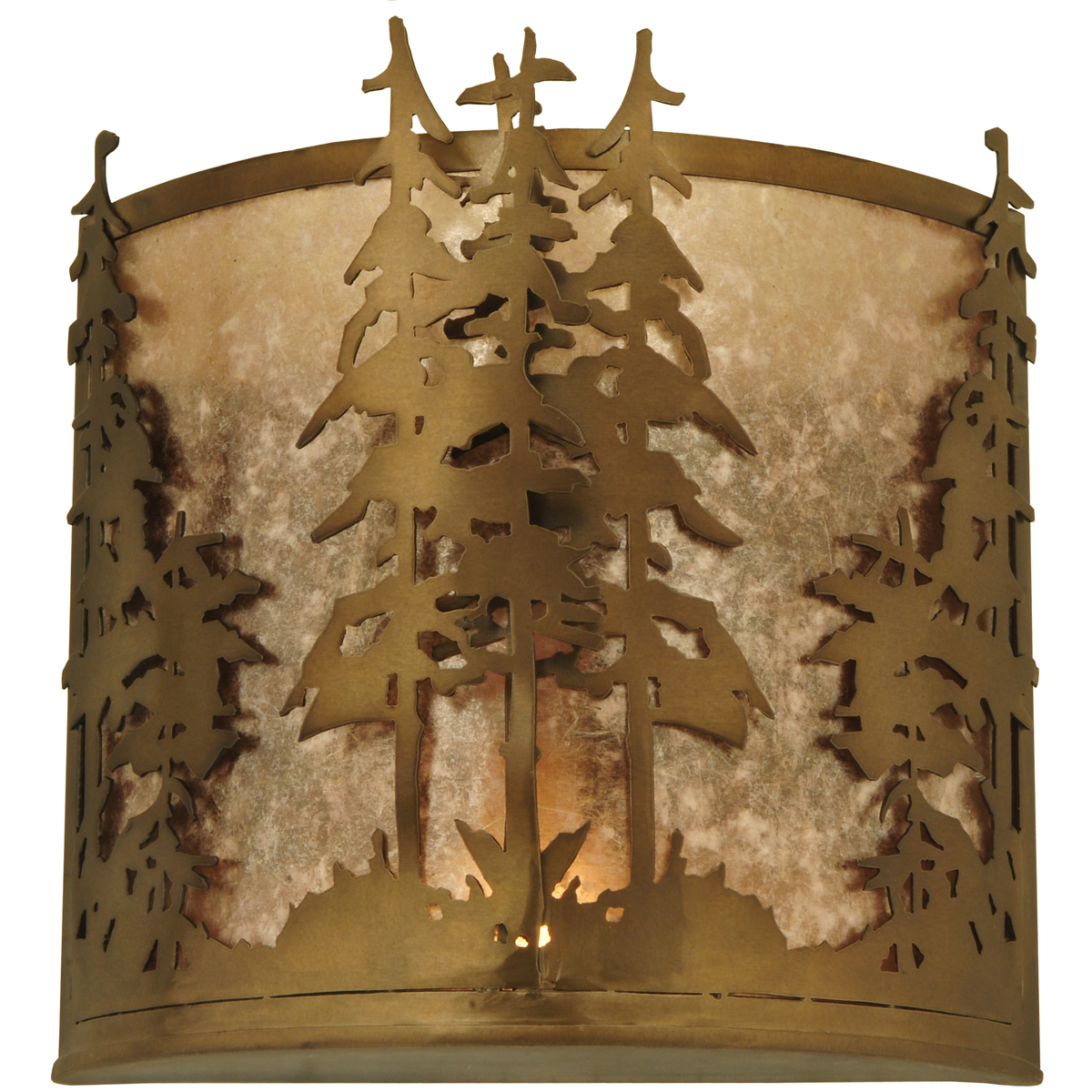Rustic Cabin Wall Sconces : Meyda Tiffany (81261) 12 Inch Width Tall Pines Wall Sconce