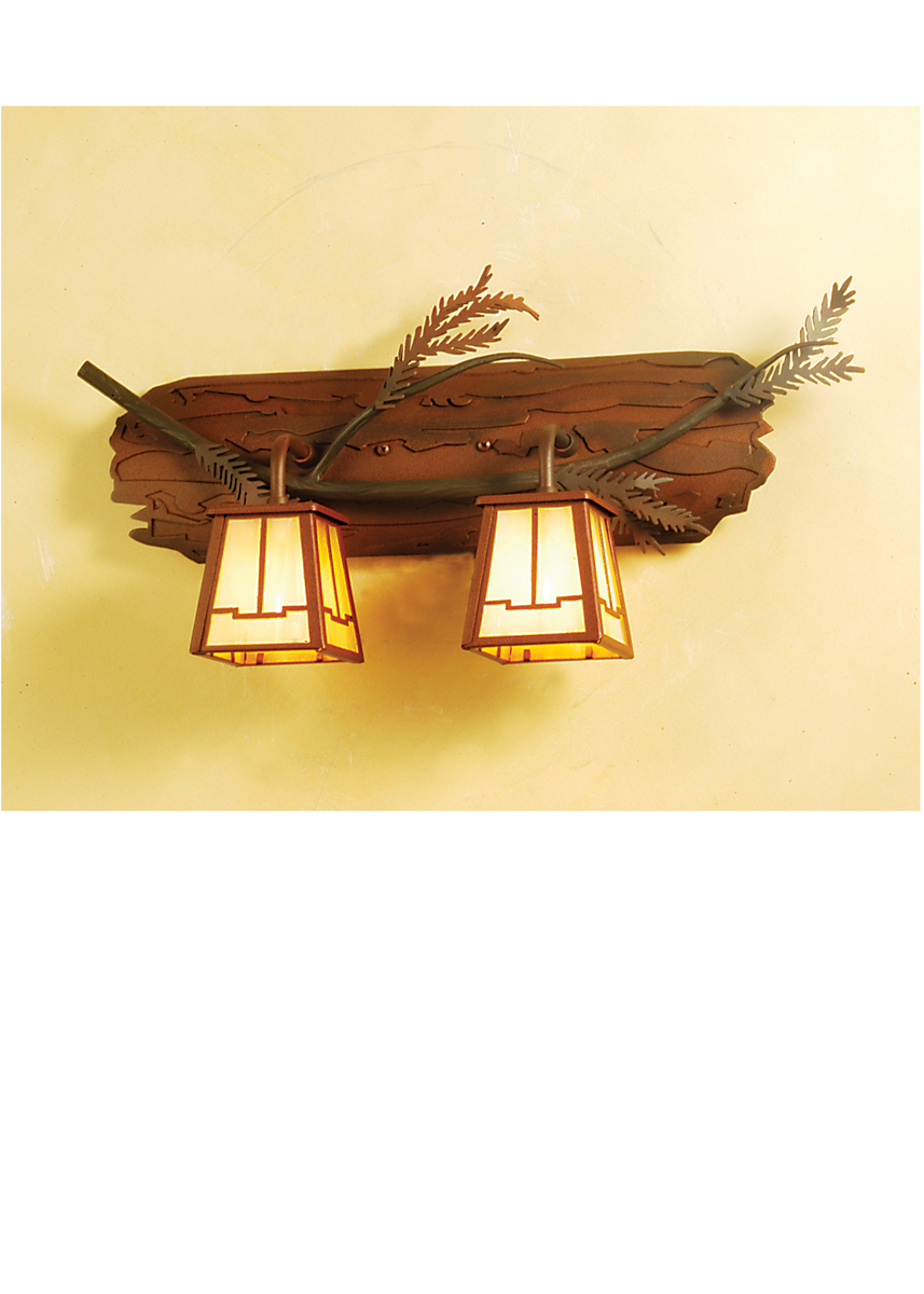 Meyda Tiffany (65090) 24 Inch Width Pine Branch Valley View 2 Light Vanity