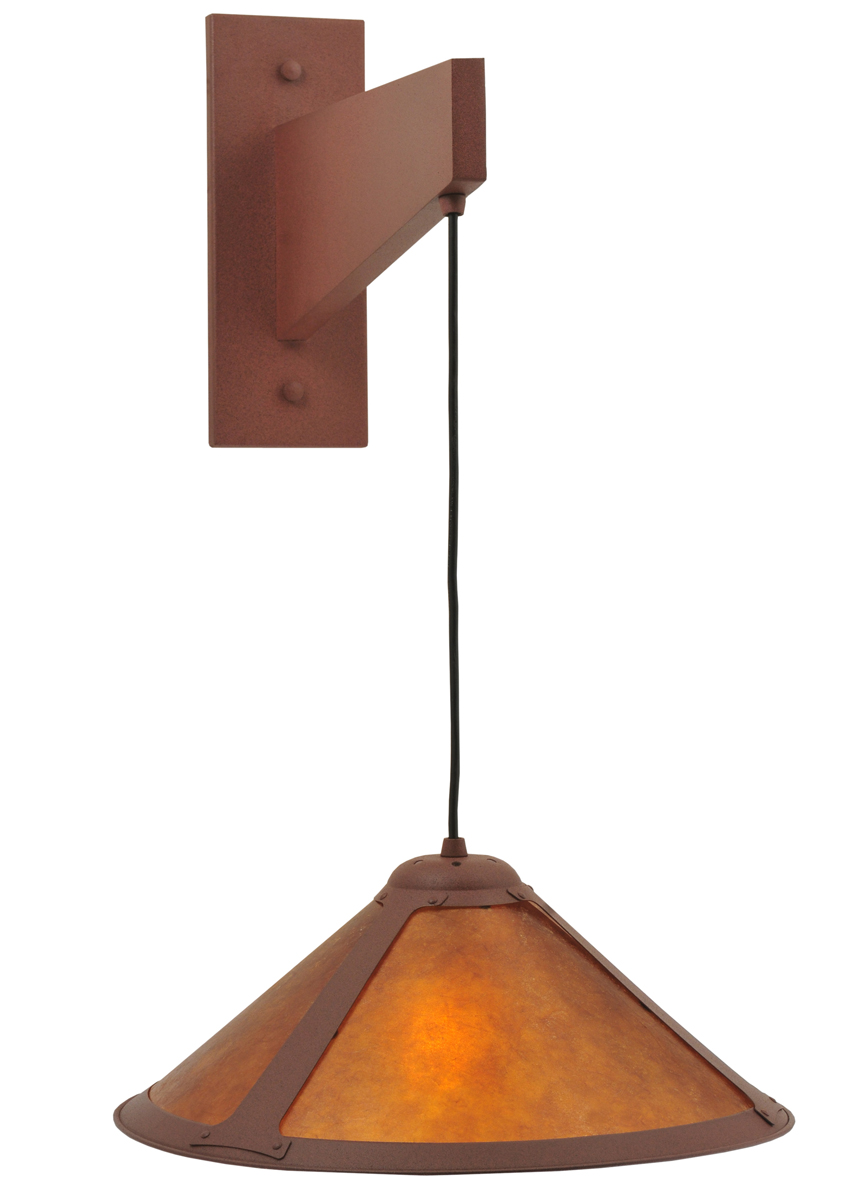 Wall Mounted Cantilever Lamp : Meyda Tiffany (118813) 17 Inch Width Cantilever Mission Wall Sconce