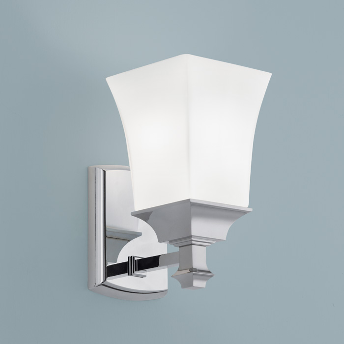 sapphire 1 light wall sconce in brushed nickel finish by