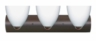Sasha II 3 Light Wall Sconce Vanity shown in Bronze with Opal Matte Glass Shade by Besa Lighting