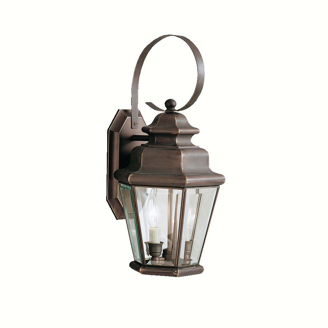 Kichler Outdoor Wall Sconces : Kichler Lighting (9676OZ) Savannah Estates 2-Light Large Outdoor Wall Sconce in Olde Bronze