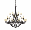Savoy House (1-2018-24-05) Elba 24 Light Chandelier in Oiled Copper
