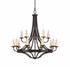 Savoy House (1-2014-15-05) Elba 15 Light Chandelier in Oiled Copper