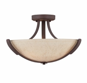 Savoy House (6-5433-3-117) Berkley Semi-Flush in Heritage Bronze