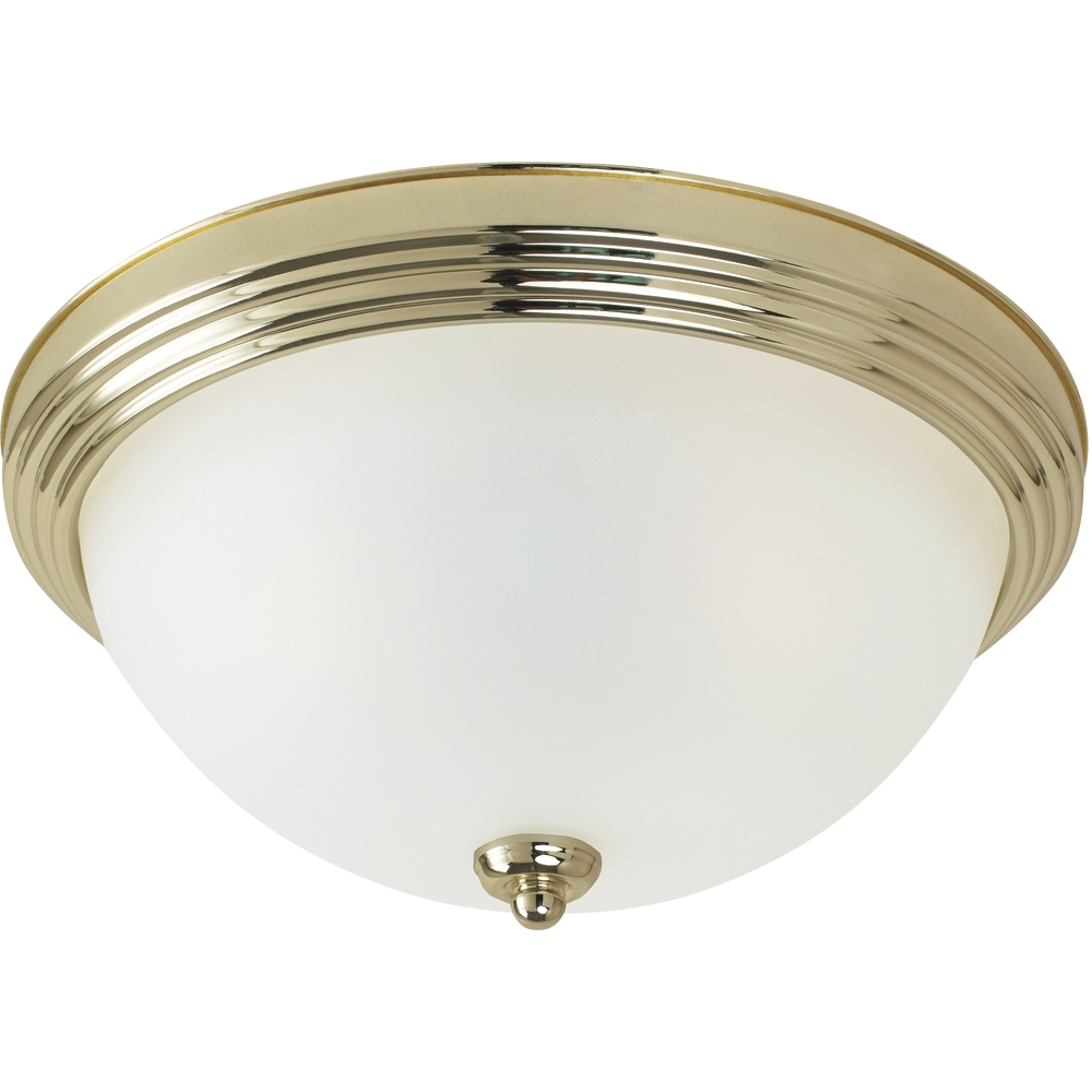 Led Ceiling Lights Brass : Sea gull lighting sgl s quot led ceiling flush