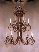 2nd Avenue Lighting (01.0810.48) Serratina 2 Tier Chandelier shown in Rustic Iron Finish