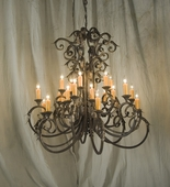 2nd Avenue Lighting (01.0810.48.ND) Serratina 3 Tier Chandelier shown in Gilded Tobacco Finish