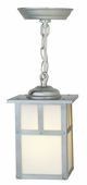 Exteriors by Craftmade (Z1841-56) Mission 6 Inch Pendant in Stainless Steel & Frosted Glass