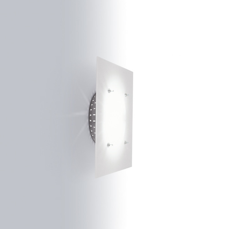Contemporary Flush Wall Lights : Zaneen Contemporary Space Flush Mount / Wall Sconce In Painted Aluminum Made In Italy - D1-2000