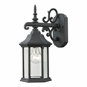 Spring Lake Coach Lantern Small shown in Matte Texetured Black by Cornerstone Lighting
