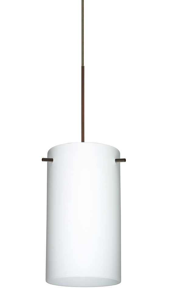 stilo 7 pendant quick connect shown in bronze with opal matte glass
