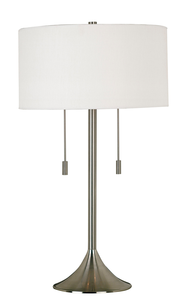 Wall Hugging Floor Lamp : Stowe Table Lamp shown in Brushed Steel Finish by Kenroy Home - KNRY-21404BS
