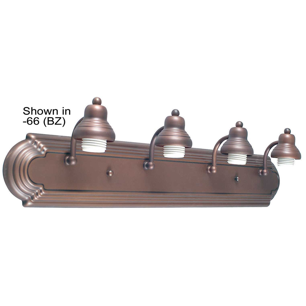 Sunset Lighting K8004 Four Light Satin Nickel Racetrack Vanity
