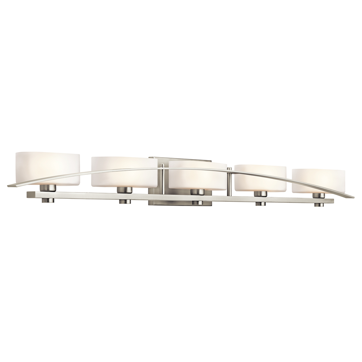 Kichler lighting 45319ni suspension 5 light bath fixture for Bathroom 5 light fixtures