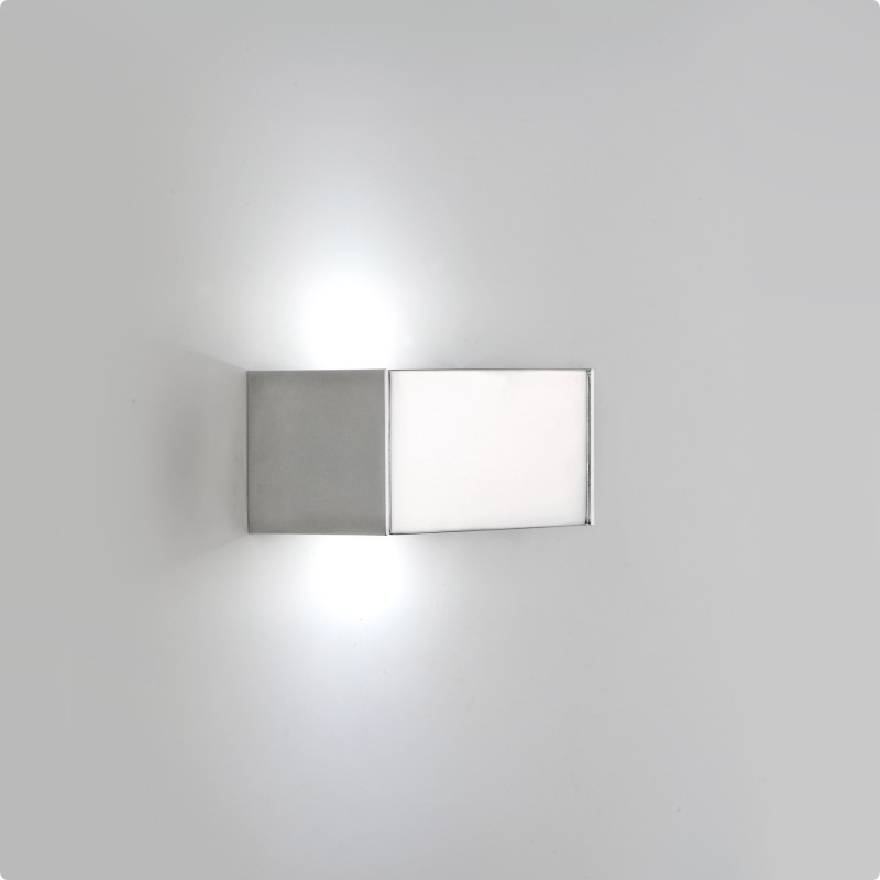Architectural Led Wall Sconces : Zaneen Architectural T-Led Wall Sconce In Polished Silver / Chrome Made In Spain - D9-3107