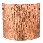 Tamburo 11 Wall Sconce shown in Black with Stone Copper Foil Glass Shade by Besa Lighting